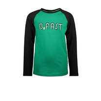 jongens longsleeve raglan with embroidery jade green