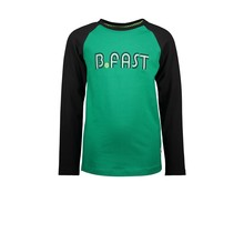 B.Nosy jongens longsleeve raglan with embroidery jade green