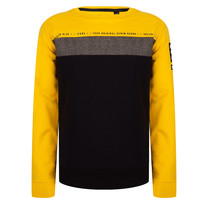 jongens trui crewneck colorblock egg yellow