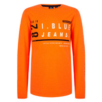 jongens longsleeve D. neon orange