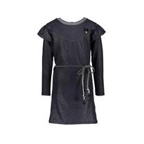 jurk glitter sweat raglan blue navy