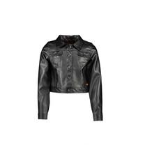 jasje fake leather jet black