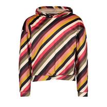 meisjes trui velvet hooded stripe
