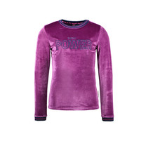 meisjes longsleeve velvet with chest artwork sparkling grape