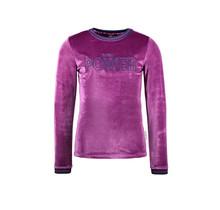 B.Nosy meisjes longsleeve velvet with chest artwork sparkling grape