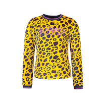 meisjes longsleeve velvet with chest artwork ao panther