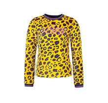 B.Nosy meisjes longsleeve velvet with chest artwork ao panther