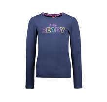 B.Nosy meisjes longsleeve with elasticated sideseams space blue