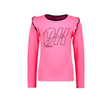 B.Nosy meisjes longsleeve with double layer ruffle around armhole knock out pink