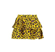 B.Nosy rok woven panther aop skirt with 2 layers ao panther