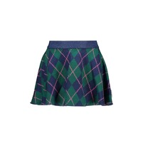 rok pleated intarsia check out check
