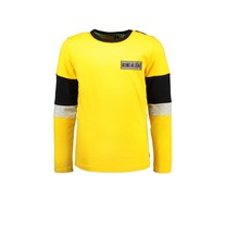 jongens longsleeve with slanted striped backside lemon chrome