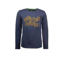jongens longsleeve with special chest artwork oxford blue