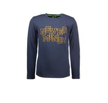 B.Nosy jongens longsleeve with special chest artwork oxford blue