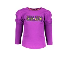 B.Nosy meisjes longsleeve with puffed sleeve and fancy artwork on chest sparkling grape