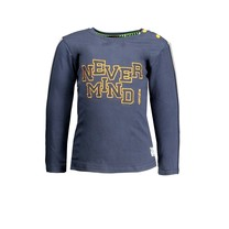 jongens longsleeve with tape on sleeves and embro on chest oxford blue