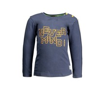 B.Nosy jongens longsleeve with tape on sleeves and embro on chest oxford blue