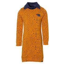 jurk Delice mosterd yellow dot