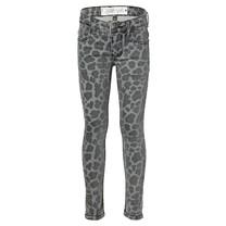 meisjes spijkerbroek Diona leopard