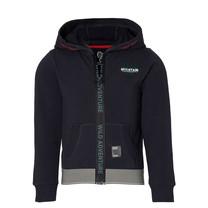 jongens vest hooded Dinand dark grey
