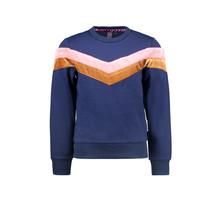 B.Nosy meisjes trui with v-shaped stripes space blue