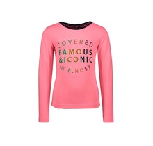 B.Nosy meisjes longsleeve with lace detail at the backside and embro on chest festival pink