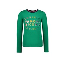 B.Nosy meisjes longsleeve with lace detail at the backside and embro on chest jade green