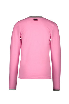 B.Nosy meisjes longsleeve with striped rib at neck and sleeve-end sorbet