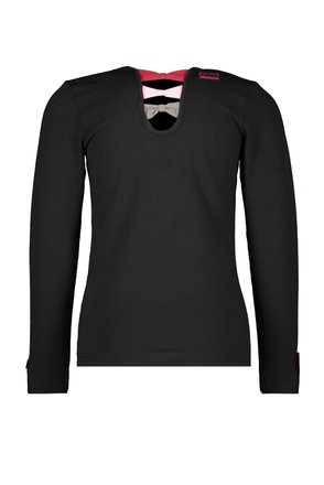 B.Nosy meisjes longsleeve with fancy pleated mesh artwork and bow details black