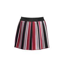 rok striped satin pleated trendy stripe