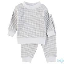 wafel pyjama grijs