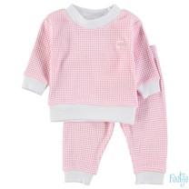 wafel pyjama roze