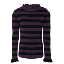 meisjes longsleeve Karly deep purple stripe