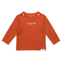 longsleeve Hester text spicy ginger