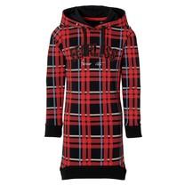 jurk Dina black red check