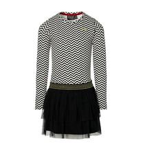 jurk Diede black white geomatric