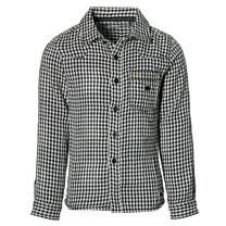 jongens blouse Djustin black check