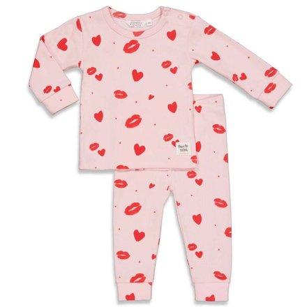 Feetje pyjama Love Lesley roze