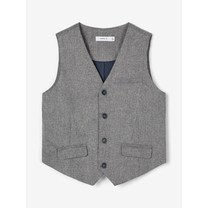 jongens gilet Royal grey melange