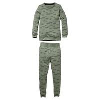 jongens pyjama Puck aop green text