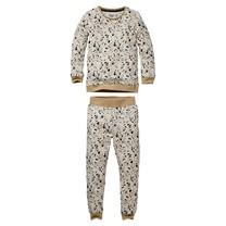 jongens pyjama Puck aop white splash