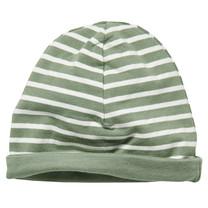 jongens mutsje Zoran dusty green stripe