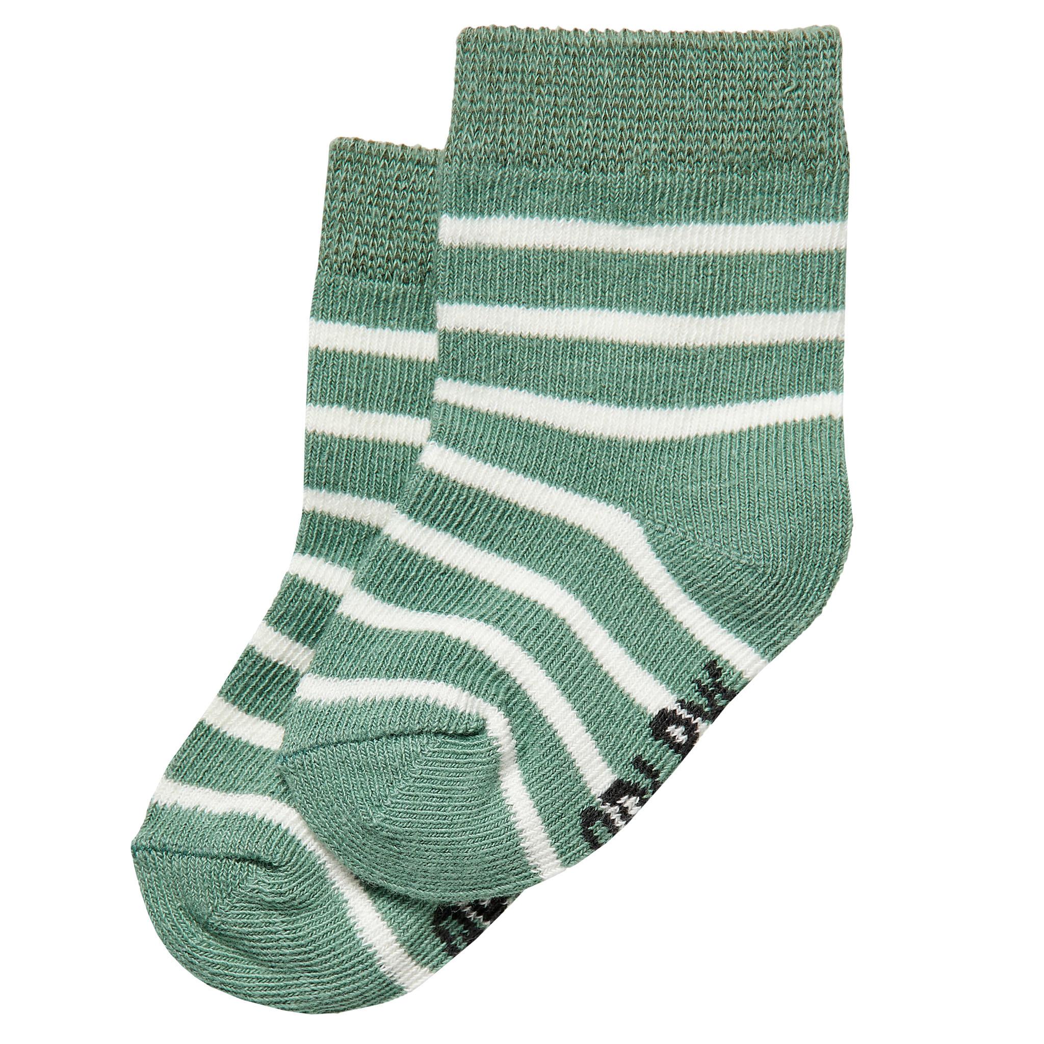 jongens sokjes Zyan dusty green stripe