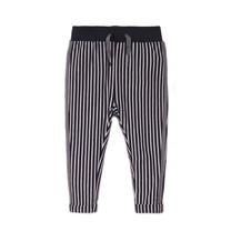 meisjes broek navy + stripe