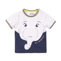 jongens T-shirt white + navy