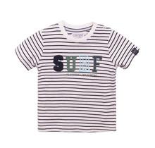 Dirkje jongens T-shirt navy + stripe