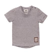 jongens T-shirt dark grey + stripes
