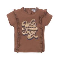 meisjes T-shirt camel