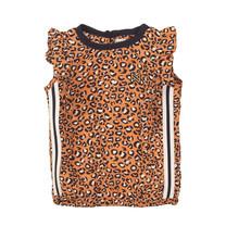 meisjes T-shirt orange + aop
