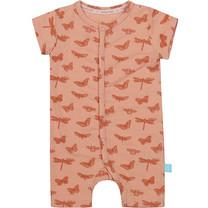 meisjes pyjama boxpakje old pink melange + aop shiny copper